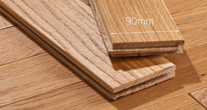 Park Avenue Herringbone Natural Oak Solid Wood Flooring - Descriptive 3