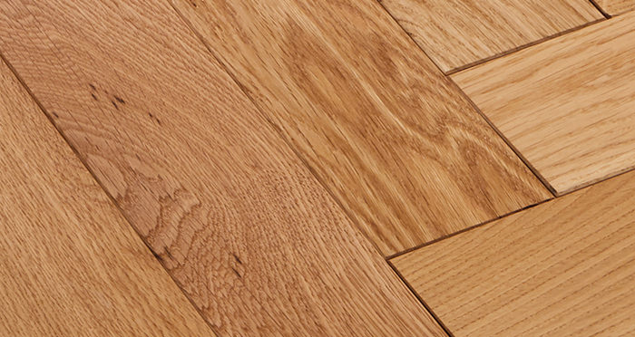 Park Avenue Herringbone Natural Oak Solid Wood Flooring - Descriptive 4