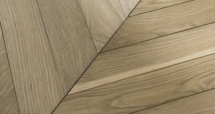 Cambridge Chevron Bavarian Oak Brushed & Oiled Engineered Wood Flooring - Descriptive 1