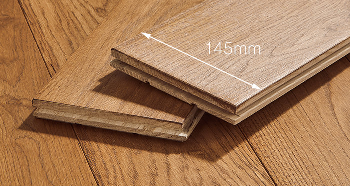 Deluxe Cinnamon Oak Solid Wood Flooring - Descriptive 3