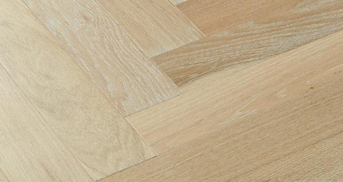 Branscombe Whitewashed Coastal Herringbone Oak Engineered Wood Flooring - Descriptive 2