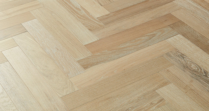Branscombe Whitewashed Coastal Herringbone Oak Engineered Wood Flooring - Descriptive 3