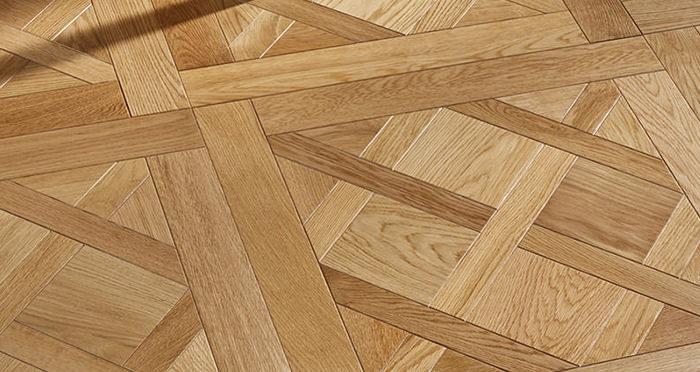 Avignon Natural Oak Brushed & Oiled Versailles Tile Engineered Wood Flooring - Descriptive 2