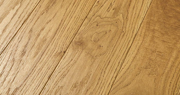 Elegant Golden Oak Brushed & Oiled Solid Wood Flooring - Descriptive 1