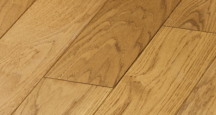 Elegant Golden Oak Brushed & Oiled Solid Wood Flooring - Descriptive 4