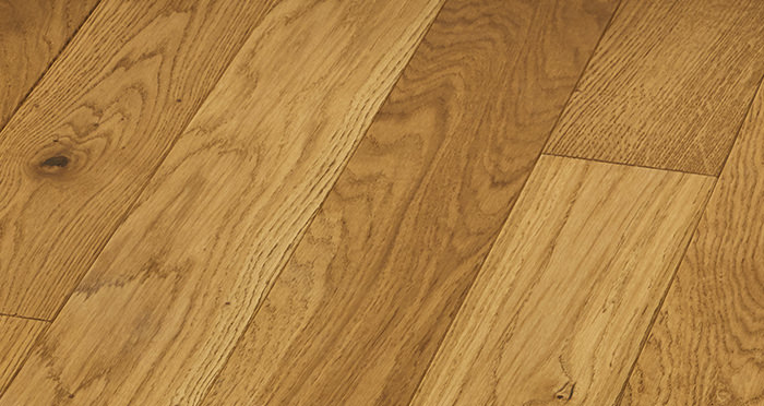 Elegant Golden Oak Brushed & Oiled Solid Wood Flooring - Descriptive 5