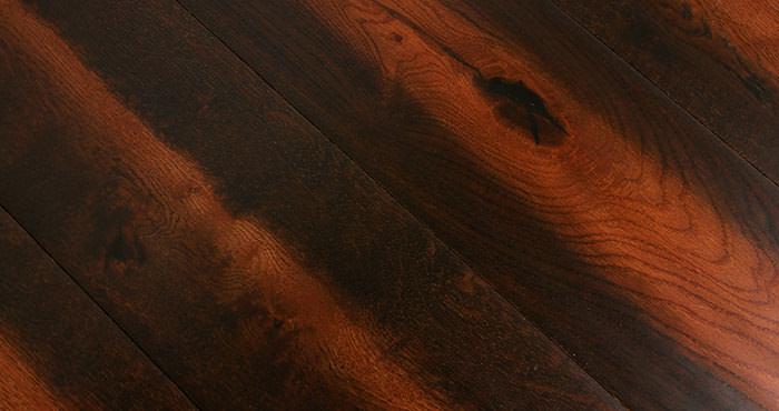Handscraped Colonial Oak Lacquered Engineered Wood Flooring - Descriptive 5