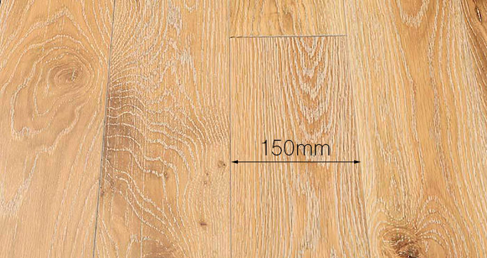 Whitewashed Cinnamon Oak Solid Wood Flooring - Descriptive 4