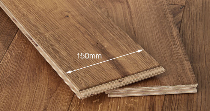 Manor Golden Smoked Oak Brushed & Lacquered Engineered Wood Flooring - Descriptive 4