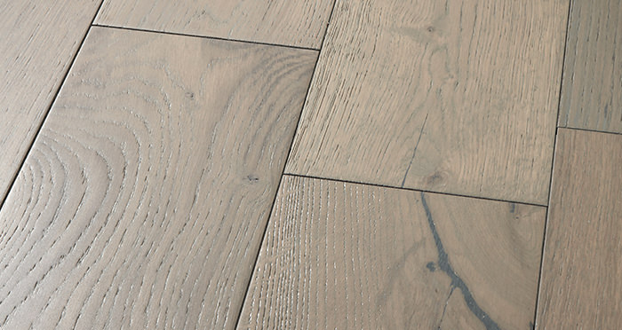 Manhattan Apollo Grey Oak Brushed & Lacquered Engineered Wood Flooring - Descriptive 1