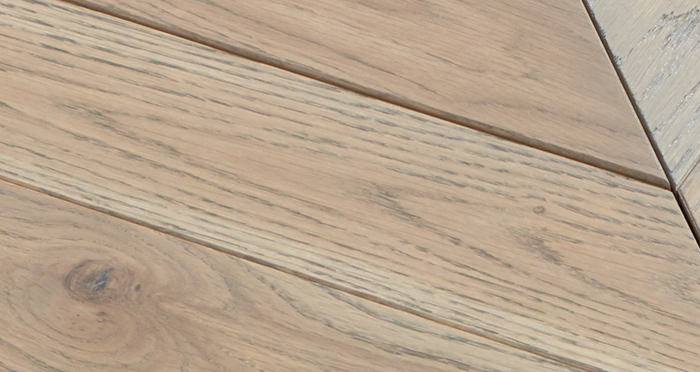 Park Avenue Chevron Silk Grey Oak Brushed & Oiled Solid Wood Flooring - Descriptive 2
