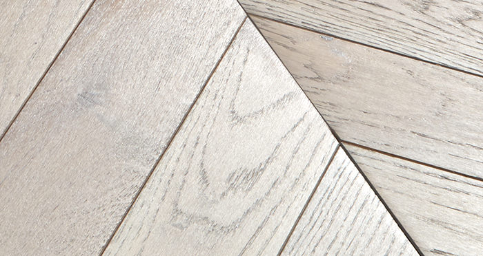 Park Avenue Chevron Silk Grey Oak Brushed & Oiled Solid Wood Flooring - Descriptive 4