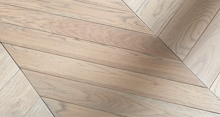Park Avenue Chevron Silk Grey Oak Brushed & Oiled Solid Wood Flooring - Descriptive 5