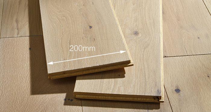 Prestige Frosted Oak Solid Wood Flooring - Descriptive 3