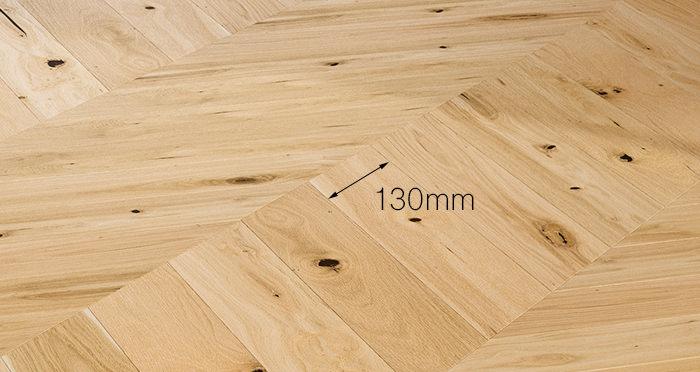 Chelsea Chevron - Woodland Oak Brushed & Lacquered Engineered Wood Flooring - Descriptive 3