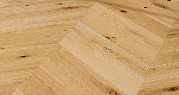 Chelsea Chevron - Woodland Oak Brushed & Lacquered Engineered Wood Flooring - Descriptive 4