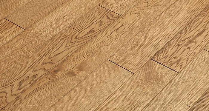 Aged & Rustic Golden Oak Brushed & Oiled Solid Wood Flooring - Descriptive 6