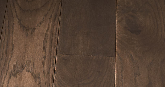 Elegant Chocolate Oak Brushed & Oiled Solid Wood Flooring - Descriptive 2