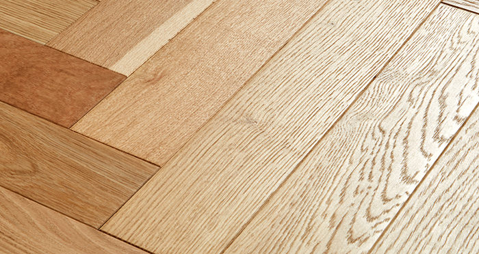 Branscombe Natural Coastal Herringbone Oak Engineered Wood Flooring - Descriptive 1