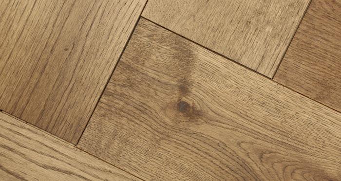 Prestige Herringbone Chocolate Oak Oiled Engineered Wood Flooring - Descriptive 2