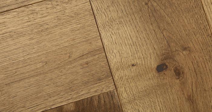 Prestige Herringbone Chocolate Oak Oiled Engineered Wood Flooring - Descriptive 3