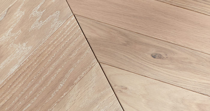 Park Avenue Chevron Frosted Oak Brushed & Oiled Solid Wood Flooring - Descriptive 2