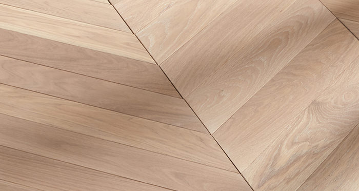 Park Avenue Chevron Frosted Oak Brushed & Oiled Solid Wood Flooring - Descriptive 5