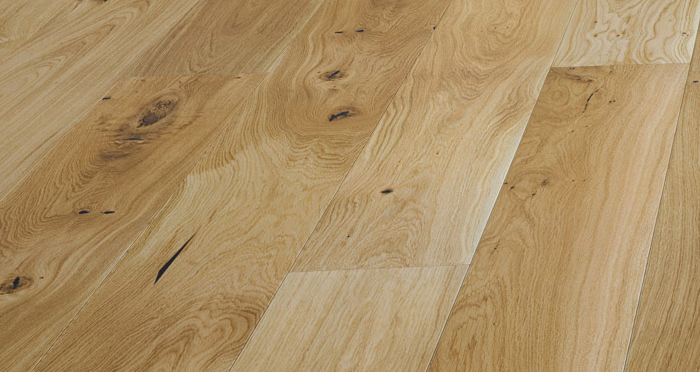 Trade Select 14mm x 130mm Natural Lacquered Engineered Wood Flooring - Descriptive 1
