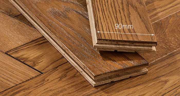 Park Avenue Herringbone Cinnamon Oak Solid Wood Flooring - Descriptive 3