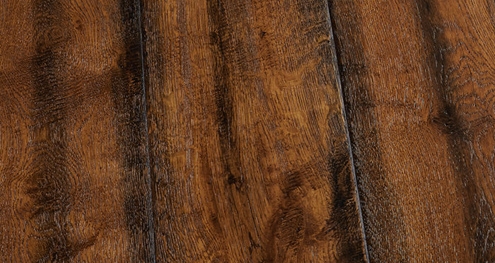 Bronzed Old French Oak Lacquered Engineered Wood Flooring - Descriptive 3