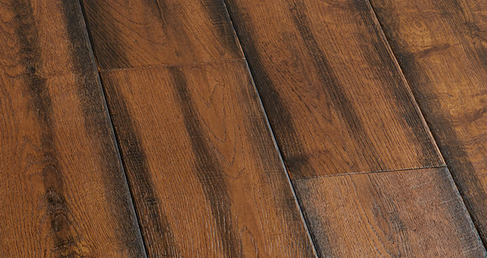 Bronzed Old French Oak Lacquered Engineered Wood Flooring - Descriptive 7
