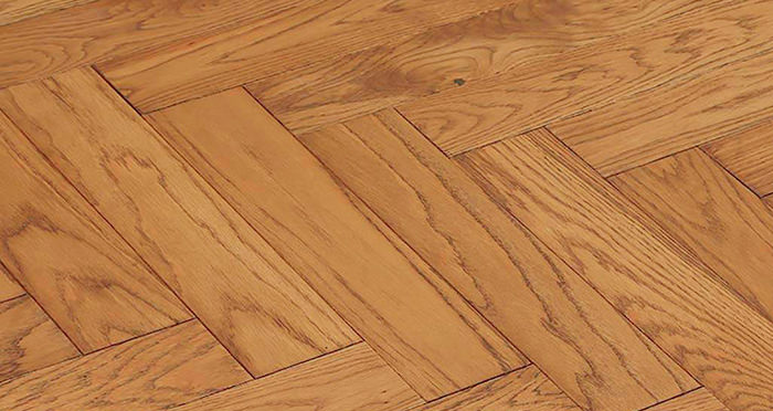 Park Avenue Herringbone Golden Oak Solid Wood Flooring - Descriptive 1