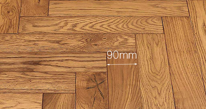 Park Avenue Herringbone Golden Oak Solid Wood Flooring - Descriptive 3