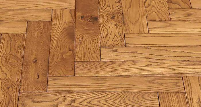 Park Avenue Herringbone Golden Oak Solid Wood Flooring - Descriptive 5