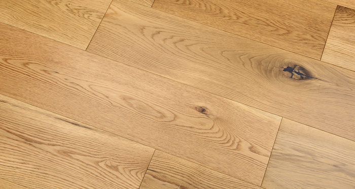 Barn Natural Oak Lacquered Engineered Wood Flooring - Descriptive 2