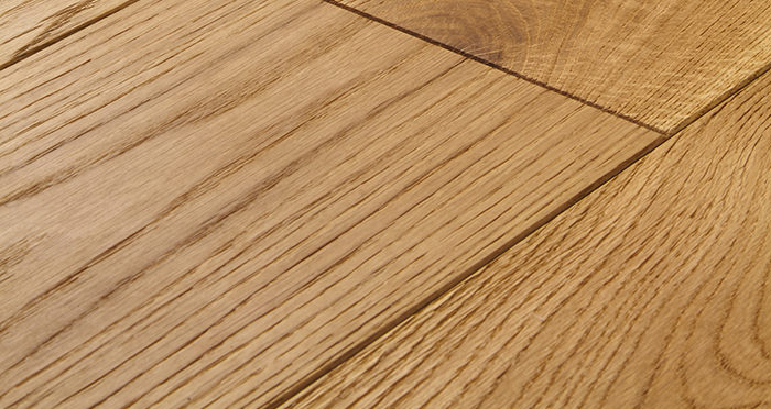 Farmhouse Natural Oak Brushed & Oiled Engineered Wood Flooring - Descriptive 1