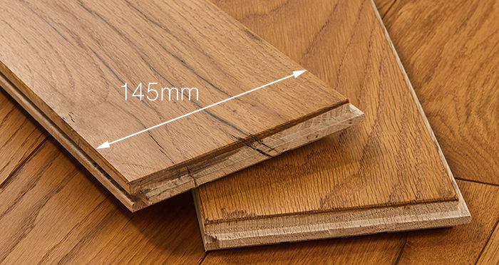 Deluxe Golden Oak Solid Wood Flooring - Descriptive 3