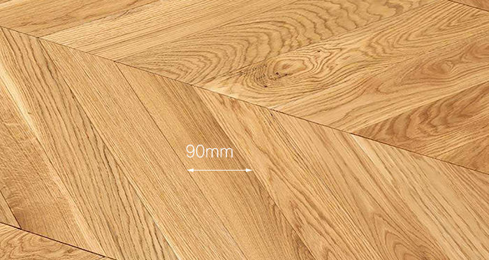 Park Avenue Chevron Natural Oak Brushed & Oiled Solid Wood Flooring - Descriptive 3