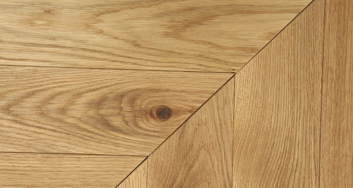 Park Avenue Chevron Natural Oak Brushed & Oiled Solid Wood Flooring - Descriptive 4