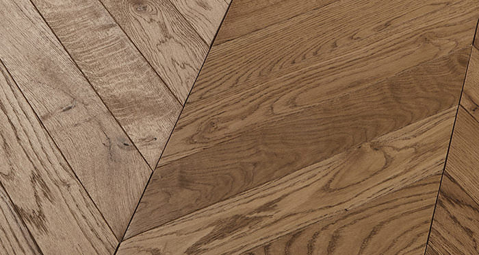 Park Avenue Chevron Espresso Oak Brushed & Oiled Solid Wood Flooring - Descriptive 1