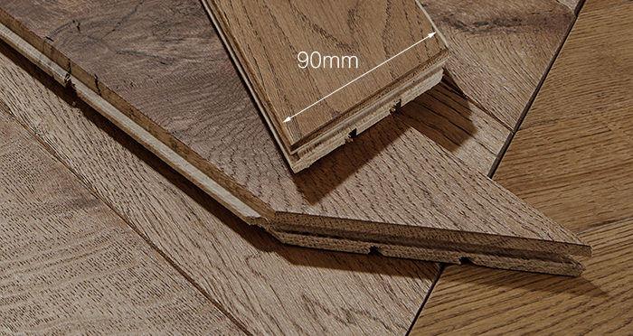 Park Avenue Chevron Espresso Oak Brushed & Oiled Solid Wood Flooring - Descriptive 3