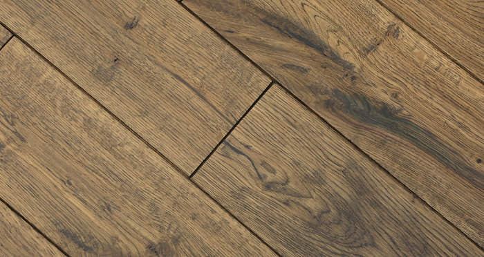 Handscraped Whiskey Oak Solid Wood Flooring - Descriptive 4