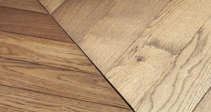 Park Avenue Chevron Georgian Oak Brushed & Oiled Solid Wood Flooring - Descriptive 2
