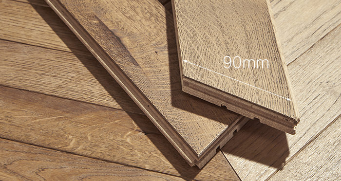 Park Avenue Chevron Georgian Oak Brushed & Oiled Solid Wood Flooring - Descriptive 3