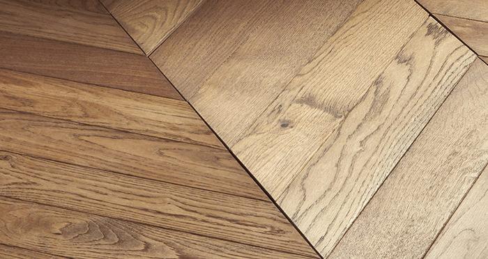 Park Avenue Chevron Georgian Oak Brushed & Oiled Solid Wood Flooring - Descriptive 5