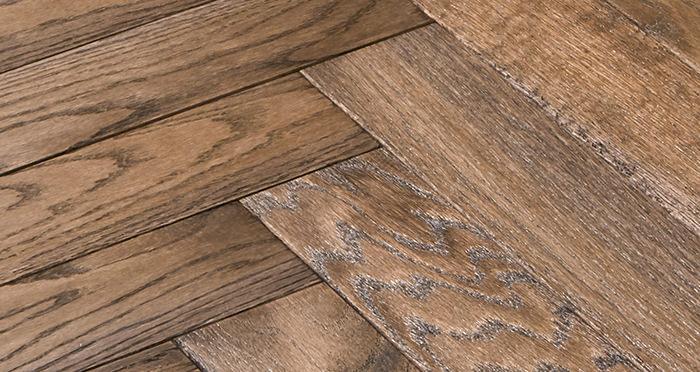 Park Avenue Herringbone Espresso Oak Solid Wood Flooring - Descriptive 4