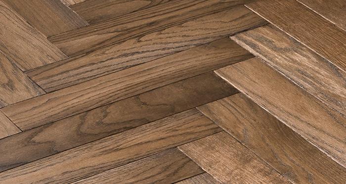 Park Avenue Herringbone Espresso Oak Solid Wood Flooring - Descriptive 5