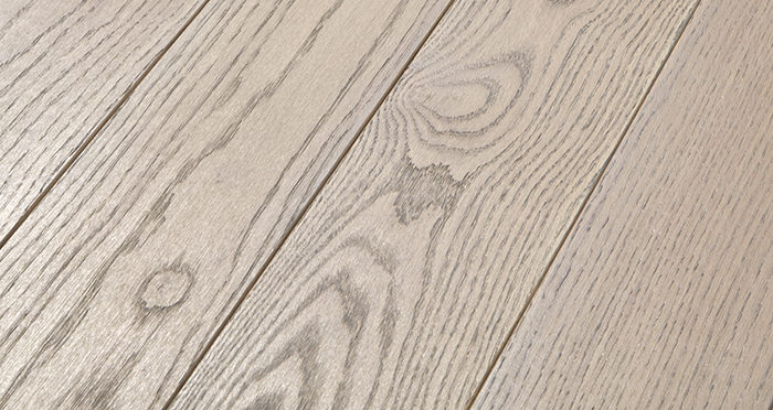 Elegant Silk Grey Oak Brushed & Oiled Solid Wood Flooring - Descriptive 1