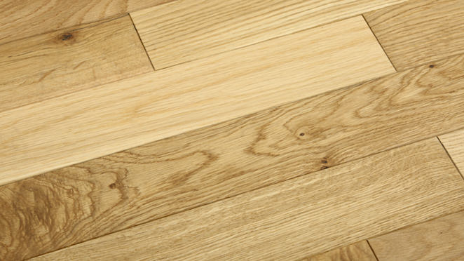 Classic Oak Natural Brushed & Oiled Solid Wood Flooring - Descriptive 1