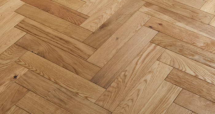Oxford Herringbone Natural Oak Engineered Wood Flooring - Descriptive 2